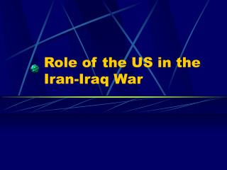Role of the US in the Iran-Iraq War