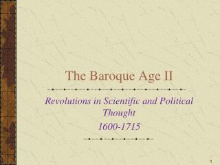 The Baroque Age II