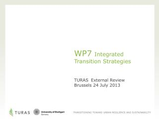 WP7 Integrated Transition Strategies