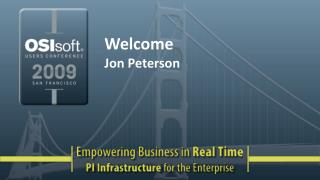 Welcome Jon Peterson
