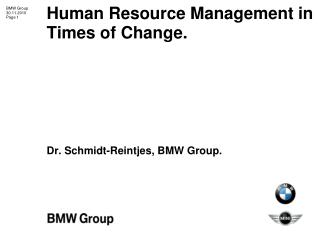 Human Resource Management in Times of Change.