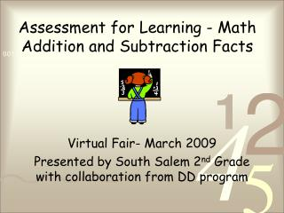 Assessment for Learning - Math Addition and Subtraction Facts