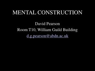 MENTAL CONSTRUCTION