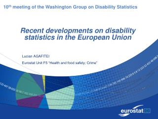 Recent developments on disability statistics in the European Union