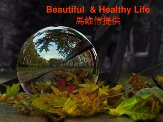 Beautiful  & Healthy Life 馬維信提供