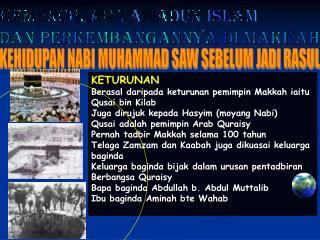 KEMUNCULAN TAMADUN ISLAM DAN PERKEMBANGANNYA DI MAKKAH