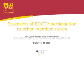 Extension of EDCTP participation to other member states