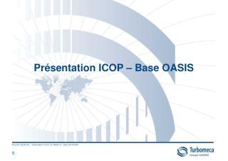 Présentation ICOP – Base OASIS