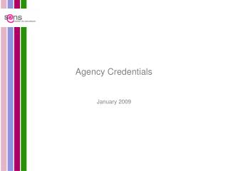 Agency Credentials