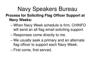 Navy Speakers Bureau