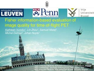 Fisher information-based evaluation of image quality for time-of-flight PET