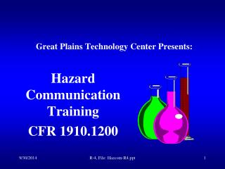 Great Plains Technology Center Presents: