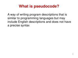 What is pseudocode?