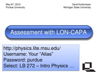 Assessment with LON-CAPA