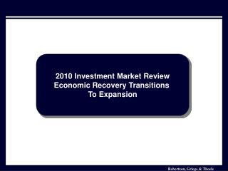 Investment Market Analysis January 2006