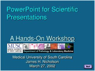 PowerPoint for Scientific Presentations