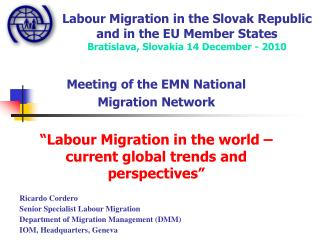 Labour Migration in the Slovak Republic and in the EU Member States