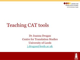 Teaching CAT tools