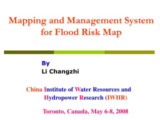 Mapping and Management System for Flood Risk Map