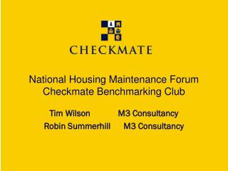 National Housing Maintenance Forum  Checkmate Benchmarking Club