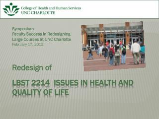 LBST 2214  Issues in Health and Quality of Life
