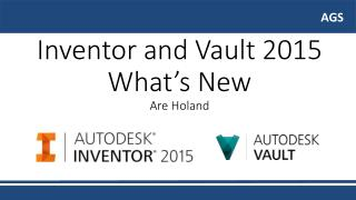 Inventor  and  Vault  2015  What's  New Are Holand