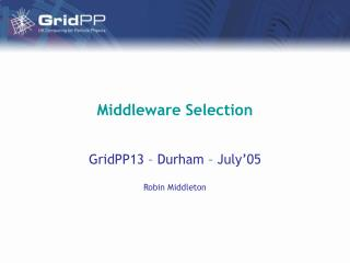 Middleware Selection