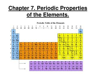 Chapter 7. Periodic Properties of the Elements.