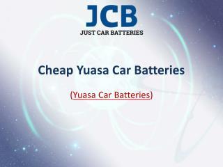Yuasa Car Batteries