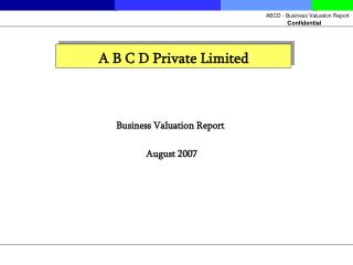 A B C D Private Limited