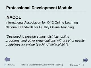 Professional Development Module