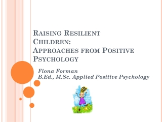 The Role of Positive Emotions to Coping