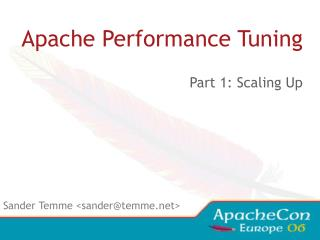 Apache Performance Tuning