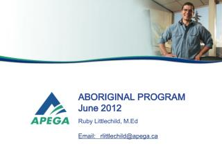 ABORIGINAL PROGRAM June 2012