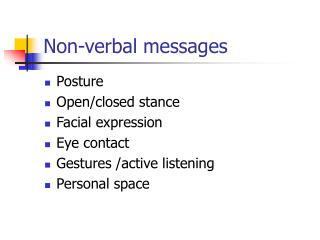 Non-verbal messages