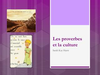 Les proverbes et la culture