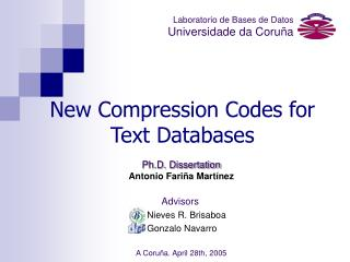 New Compression Codes for Text Databases