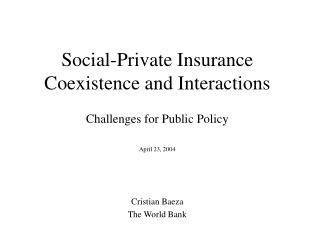 Social-Private Insurance Coexistence and Interactions