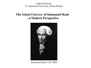 The  Island Universe  of Immanuel Kant - a Modern Perspective