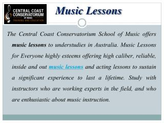 Gorgeous Music Courses Offered in Australia