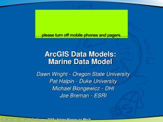 ArcGIS Data Models:  Marine Data Model