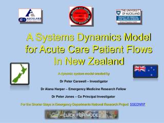 A Systems Dynamics Model for Acute Care Patient Flows In New Zealand
