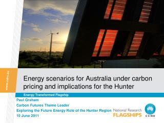 Energy scenarios for Australia under carbon pricing and implications for the Hunter