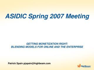 Patrick Spain pjspain@highbeam
