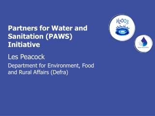 Partners for Water and Sanitation (PAWS) Initiative