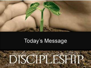 The Discipleship of One