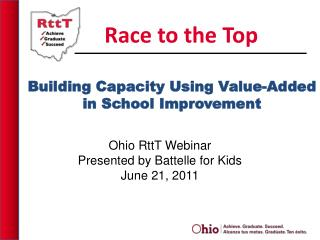 Building Capacity Using Value-Added in School Improvement