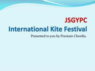 JSGYPC International Kite Festival