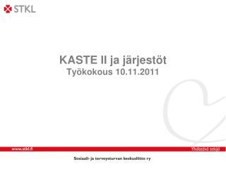 KASTE II ja järjestöt Työkokous 10.11.2011