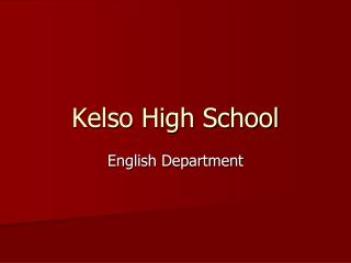 Kelso High School